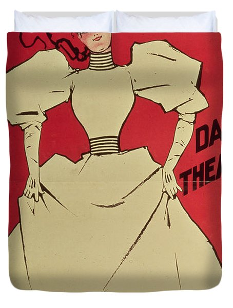 Poster Advertising A Gaiety Girl At The Dalys Theatre In Great Britain Duvet Cover by Dudley Hardy