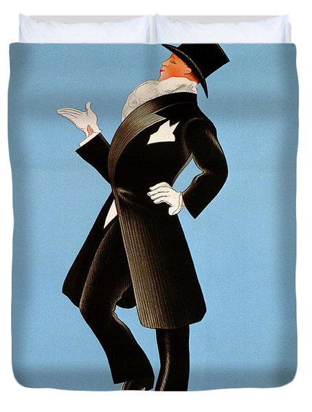 Poster Advertising 'brummel' Clothing For Men At Printemps Department Store, 1936  Duvet Cover