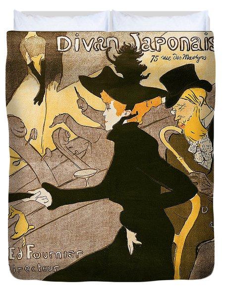 Poster Advertising Le Divan Japonais Duvet Cover