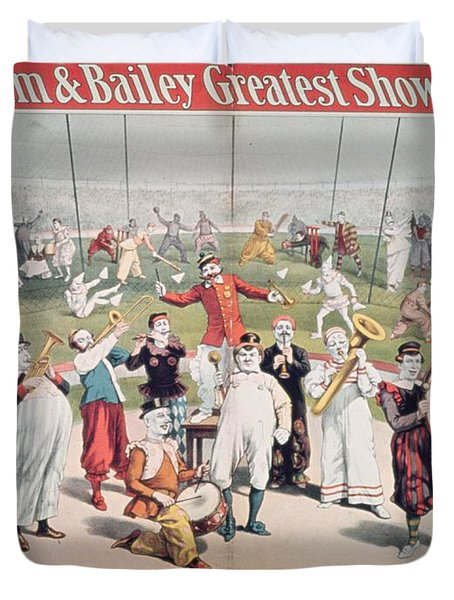 Poster Advertising The Barnum And Bailey Greatest Show On Earth Duvet Cover by American School