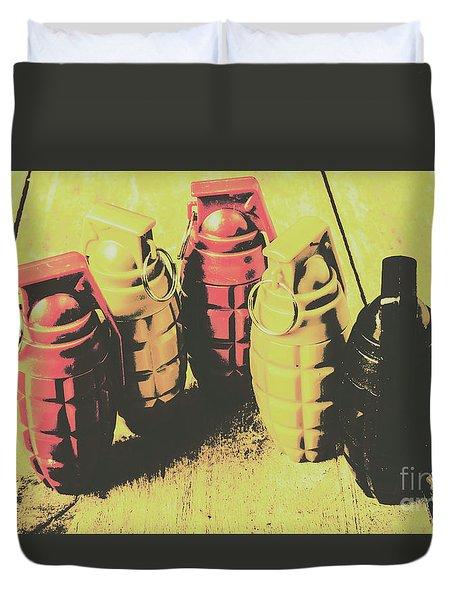 Posterized Granade Art Duvet Cover