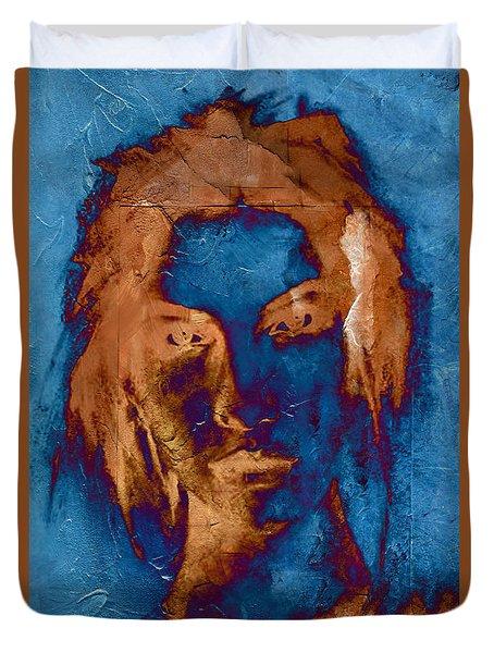 Posterized Portrait Duvet Cover