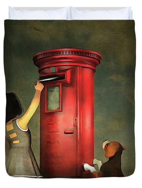 Posting A Letter Together Duvet Cover