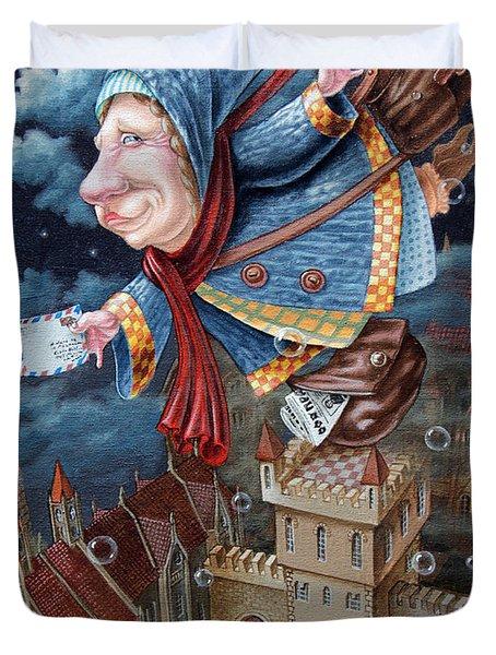 Postwoman Duvet Cover