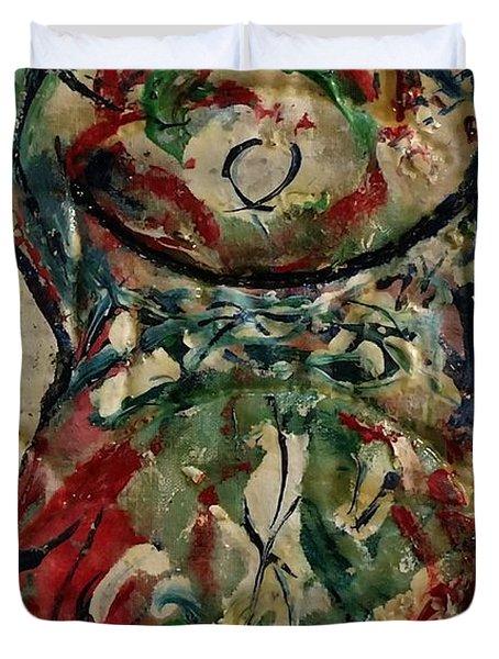 Potpourri Vase With Rose Duvet Cover