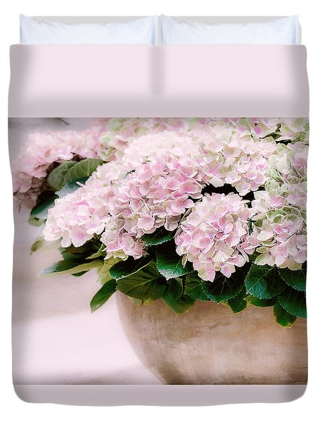 Pot Of Hydrangeas Duvet Cover