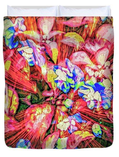 Duvet Cover featuring the digital art Pot Pourri by Eleni Mac Synodinos