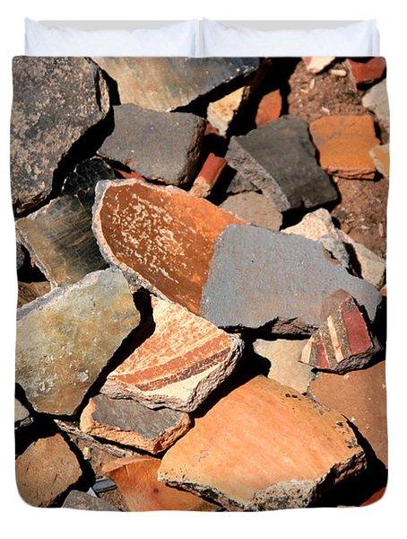 Pot Shards Duvet Cover by Joe Kozlowski