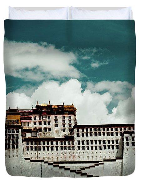 Potala Palace, Fragment. Lhasa, Tibet. Yantra.lv Duvet Cover