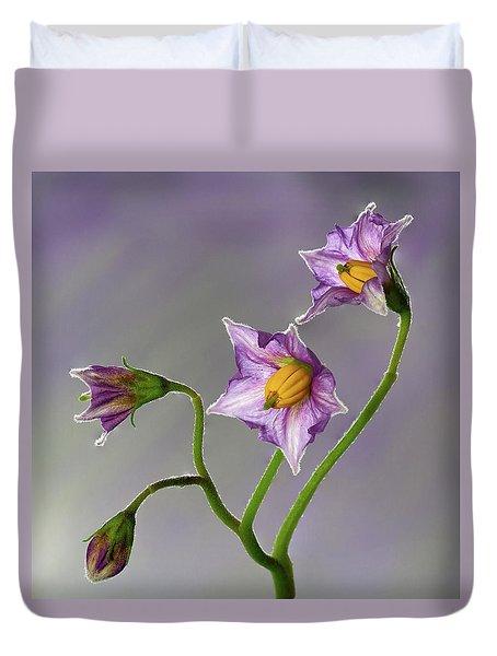 Potato Flowers Duvet Cover