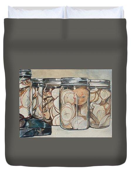 Potato Harvest Duvet Cover by Stephanie Come-Ryker