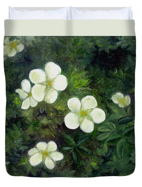 Potentilla Duvet Cover