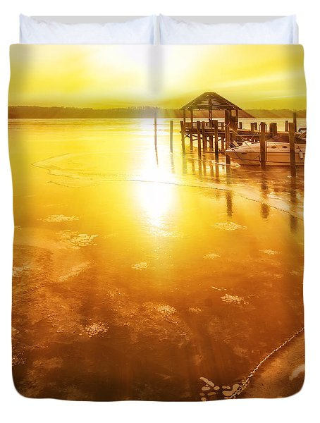 Potomac In Old Town Alexandria Duvet Cover