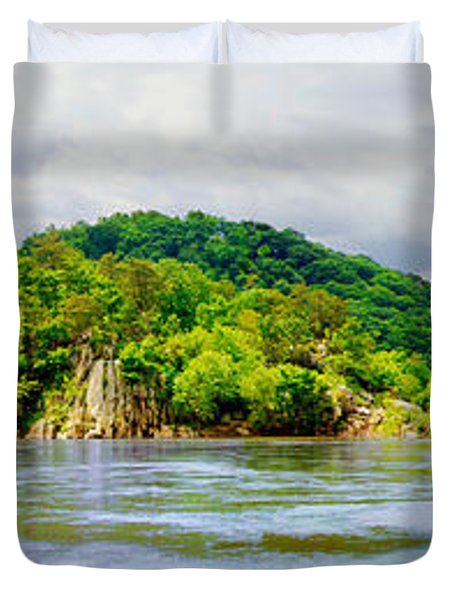 Duvet Cover featuring the photograph Potomac Palisaides by Francesa Miller