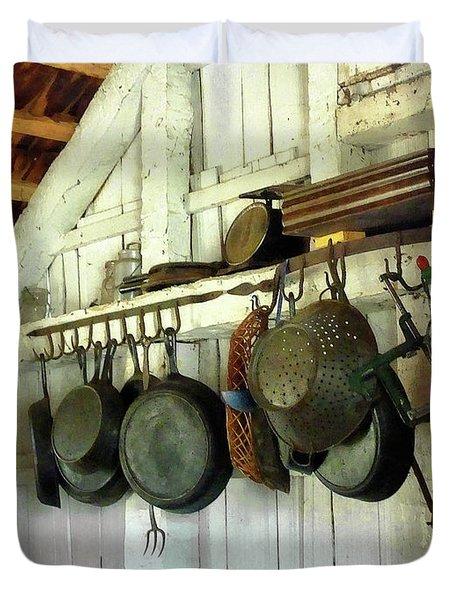 Pots In Kitchen Duvet Cover