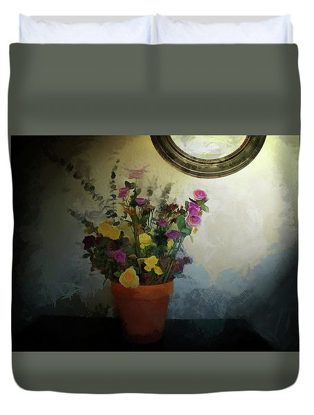Potted Flowers 2 Duvet Cover