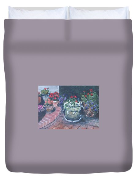 Potted Flowers Duvet Cover