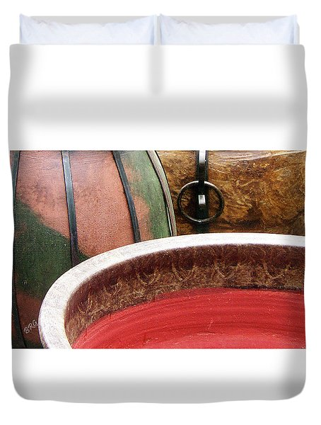 Pottery Abstract Duvet Cover by Ben and Raisa Gertsberg