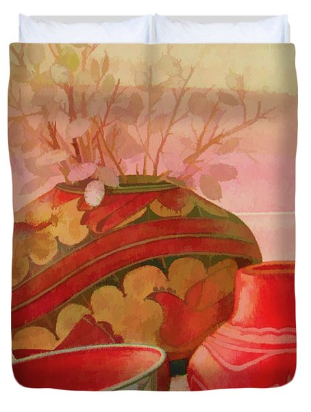 Pottery Duvet Cover