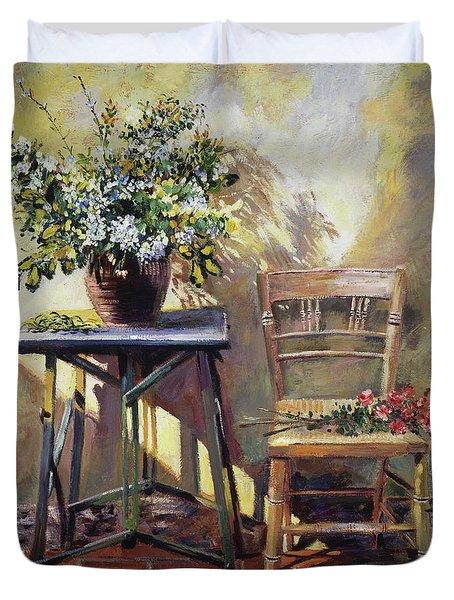 Pottery Maker's Table Duvet Cover
