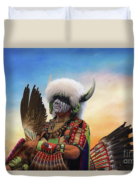 Duvet Cover featuring the photograph Pow Wow 3 by Jim  Hatch