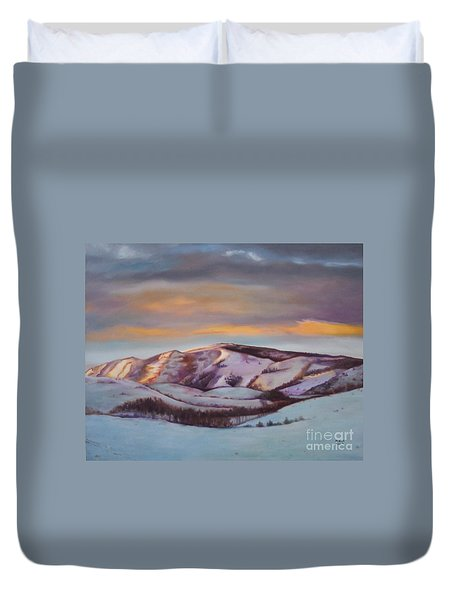 Powder Mountain Duvet Cover by Marlene Book