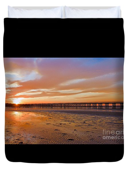Powder Point Bridge Duxbury Duvet Cover by Amazing Jules