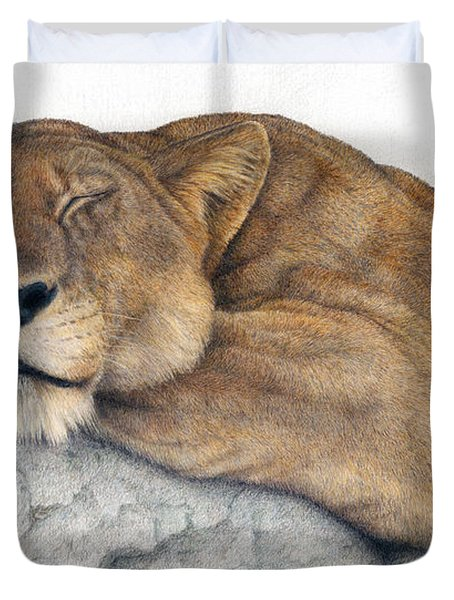 Power And Grace At Rest Duvet Cover by Pat Erickson