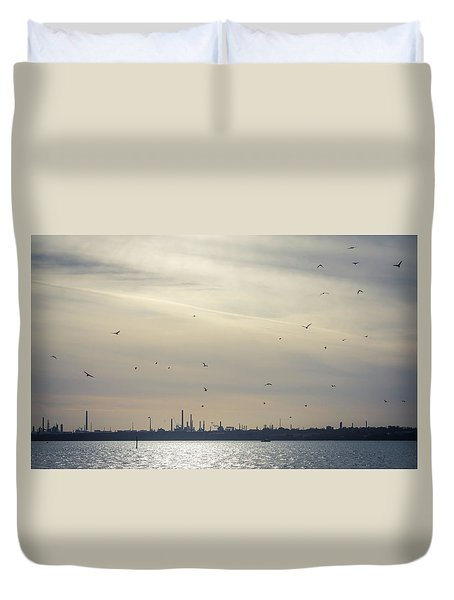 Power By The Sea Duvet Cover
