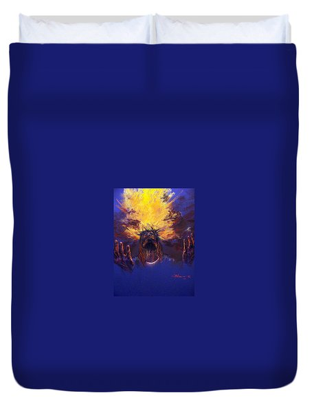 Power From On High Duvet Cover by Tommy  Winn