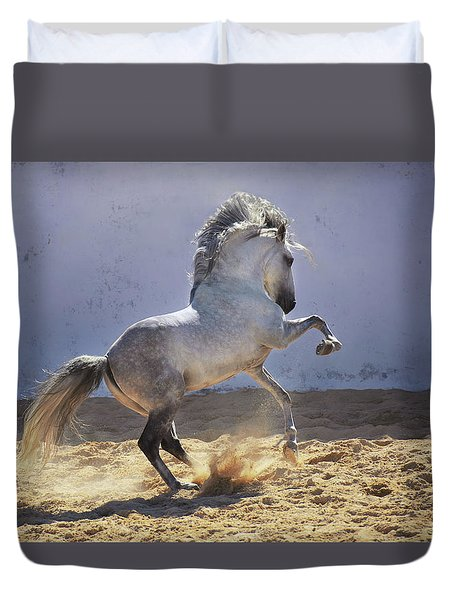Power In Motion Duvet Cover