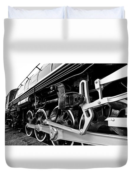 Power In The Age Of Steam Duvet Cover by Dan Dooley