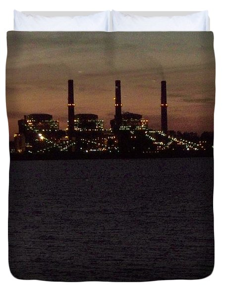 Duvet Cover featuring the photograph Power In The Dark by Betty Northcutt