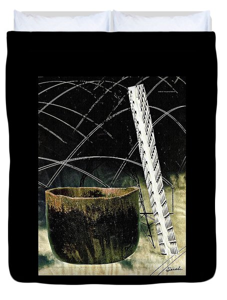 Power Lines Duvet Cover by Sarah Loft