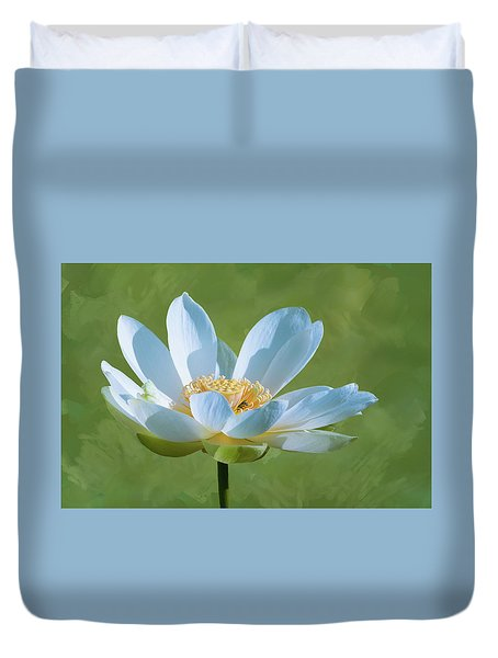 Power Of A Lotus Duvet Cover