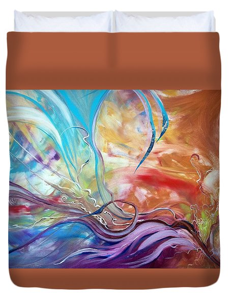 Power Of Now Duvet Cover by Jan VonBokel