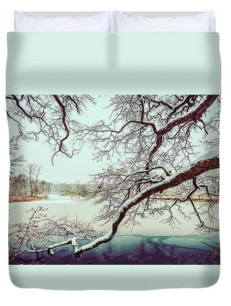 Power Of The Winter Duvet Cover