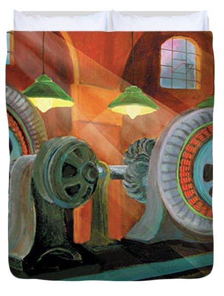 Power Plant Turbines Duvet Cover