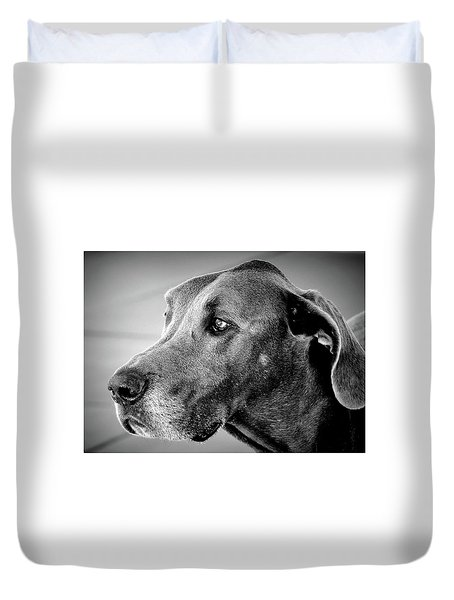 Duvet Cover featuring the photograph Powerful Majesty by Barbara Dudley