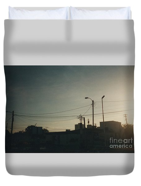 Untitled Street Scene Duvet Cover
