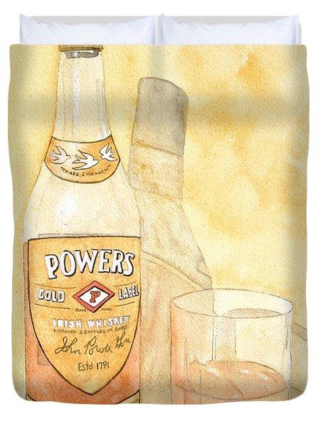 Powers Irish Whiskey Duvet Cover by Ken Powers