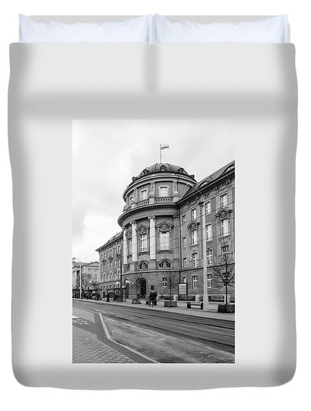 Poznan University Of Medical Sciences Duvet Cover