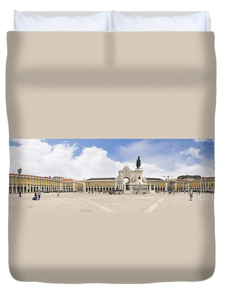 Praca Do Comercio, The Square Of Commerce Duvet Cover