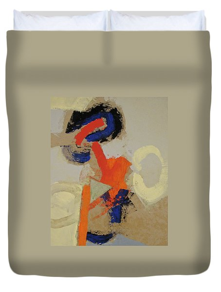 Duvet Cover featuring the painting Practice  by Cliff Spohn