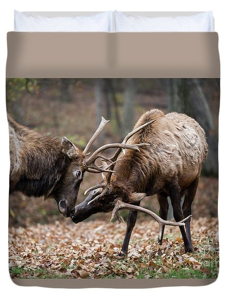 Duvet Cover featuring the photograph Practicing by Andrea Silies