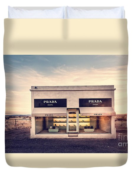 Prada Store Duvet Cover