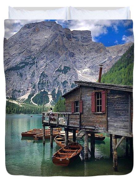 Pragser Wildsee View Duvet Cover