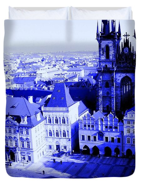 Prague Cz Duvet Cover