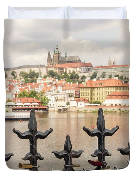 With Love From Prague Duvet Cover