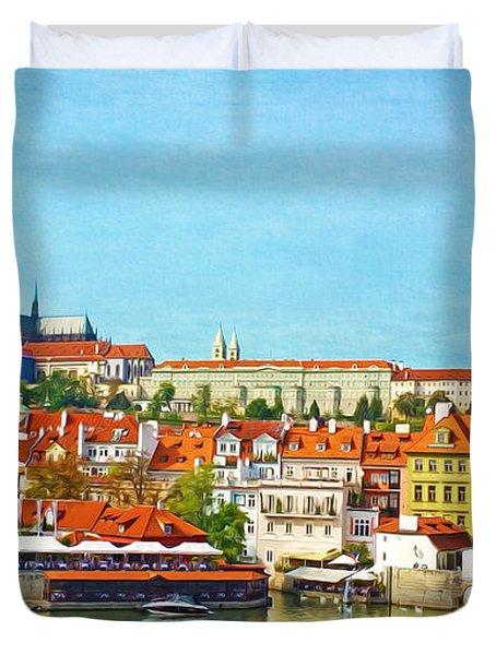 Prague Panorama Duvet Cover